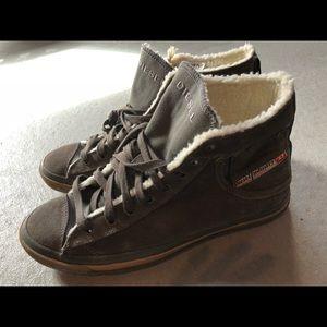 Diesel boots with fur men's size 10